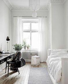 white bedroom design single bedroom idea white bedroom idea minimalist bedroom c… – Wohnen – Bedrooms Home Decor Bedroom, Bedroom Furniture, Furniture Decor, White Furniture, Boys Furniture, Apartment Furniture, Daybed Bedroom Ideas, Narrow Bedroom Ideas, Bedroom Headboards