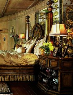Tuscan design – Mediterranean Home Decor Bedroom Sets, Dream Bedroom, Home Decor Bedroom, Master Bedroom, Tuscan Bedroom, Tuscan Furniture, Tuscany Decor, World Decor, Tuscan House