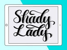 Shady Lady Pro is a softer version of my original Shady Lady brush. This one has a softer shadow than the original brush. Its great for lettering because the shadow is already built in and theres no need to create it on another layer. Your download will also include the original Shady Lady free brush, so you can enjoy lettering with both.  This custom brush is for the Procreate iOS app. It works best on iPad Pro with Apple Pencil or another pressure sensitive stylus.