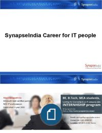 SynapseIndia Career for IT People