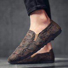 Mens Espadrilles 2018 Summer Fashion Flat Men Shoes Male Casual Shoes Slip On Lazy Men Flats Shoes Cheap Moccasins Men Loafers - Flat Shoes Mens Fashion Casual Shoes, Fashion Flats, Men's Fashion, Men Casual, Latex Fashion, Gothic Fashion, Fashion Styles, Loafer Shoes, Men's Shoes
