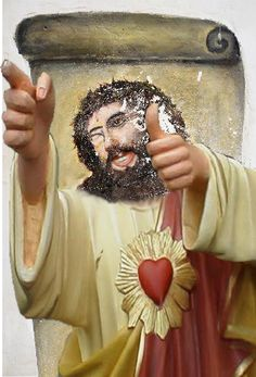 pic.twitter.com/S3v0XezL  #ceciliaprize #eccehomocolega Buddy Christ style!