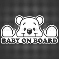 Baby on Board Car Sticker 210mm bear version