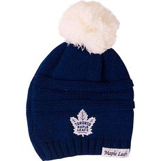 36d6a3ea1c8 Toronto Maple Leafs Old Time Hockey Ladies Deliah Cuffless Pom Toque -  shop.realsports Lady