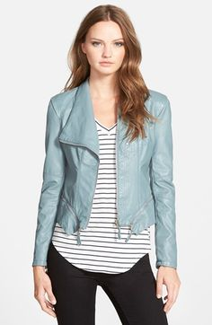 BLANKNYC Faux Leather Jacket - Blue - size medium (or large?) - ($98.00) - very high on my list!