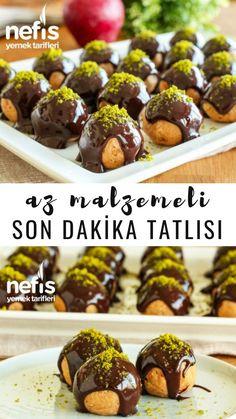 Elmalı Profiterol Tarifi (videolu) - Nefis Yemek Tarifleri Turkish Recipes, Ethnic Recipes, Good Food, Yummy Food, International Festival, Turkish Delight, Biscotti, Granola, New Recipes