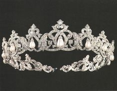The Cartier pearl tiara of the Grimaldi Family of Monaco
