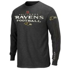 NFL Baltimore Ravens Gridiron Tough IV Long Sleeve T-Shirt - Charcoal by VF. $29.95. Gridiron Tough IV Long Sleeve T-Shirt. Screen print graphics. Rib knit cuffs and collar. Tagless collar. Machine washable. Represent your home team with this Baltimore Ravens Heathered Dark Grey Gridiron Tough IV Long Sleeve T-Shirt. This comfortable Baltimore Ravens long sleeve t-shirt features screen print graphics of your favorite team's logo, wordmark and conference logo. Add some cozy team...