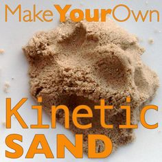 Make Your Own Kinetic Sand (10 lbs for 50 cents! compare to $85 on amazon!) Get the super easy recipe, just click the picture. REPIN to save this!