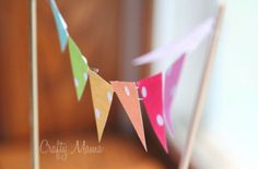 Mini rainbow pennant banner