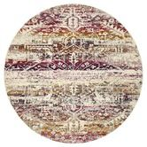 A statement design piece, Jerez features an ombre of warm fuschia pinks, purples, and reds overlaid with a traditional medallion motif.Jerez is woven from silky soft and highly durable polypropylene fibres for a thick pile and indulgent underfoot feel. Bohemian Chic Decor, Bohemian Design, Modern Bohemian, Purple Pattern, Round Rugs, Transitional Style, Power Loom, Vivid Colors, Colours