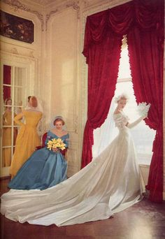 From Modern Bride magazine, 1949  Photographed in the Plaza Hotel, NYC