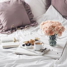 alabasterfox Working At Starbucks, Good Morning Everyone, Breakfast In Bed, Coffee Art, Luxury Life, Pretty Pictures, Throw Pillows, How To Plan, Croissant
