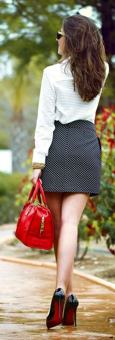 Dots And Stripes Outfit Idea by 1sillaparamibolso