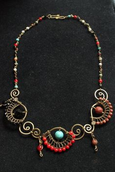 Bohemian Seahorses Necklace by crafitti on Etsy