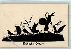 Tante Paulas Scherenbilder - Ostern - vermenschlichte Tiere