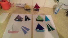 Making glass boats.