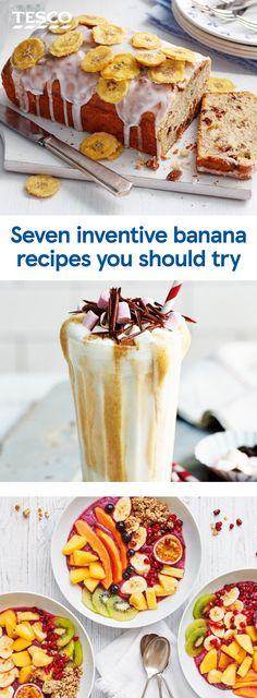 Coconut Milkshake, Milkshake Recipes, Tesco Real Food, Banana Ice Cream, Korma, Banana Recipes, Bananas, Inventions, Banana Bread