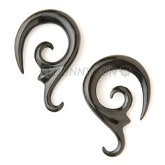 2G Pair Horn Tiger Lily Gauged Plugs-Organic Hand Carved Body Piercing Jewelry 2 gauge Earrings. $22.99, via Etsy.