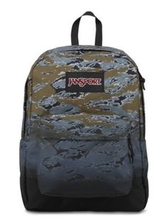 The new JanSport Black Label SuperBreak Backpack Special Edition in Green  Tiger Camo Fade. Jansport 58a82f1c7617d