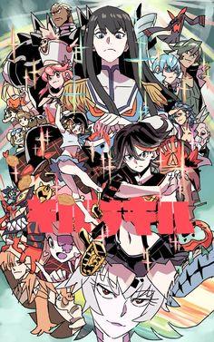 Kill La Kill, Manga Art, Manga Anime, Anime Art, Wallpaper Animes, Animes Wallpapers, Cool Animes, Gurren Laggan, Poster Anime