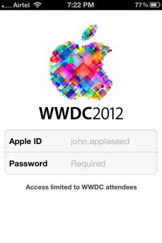Apple Releases Official WWDC 2012 App For iPhone And iPad