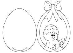 biglietto di auguri per pasqua uovo con pulcino Kirigami, Coloring Books, Coloring Pages, Colouring, Christmas Window Decorations, Educational Crafts, Holiday Crafts For Kids, Shaped Cards, Baby Scrapbook