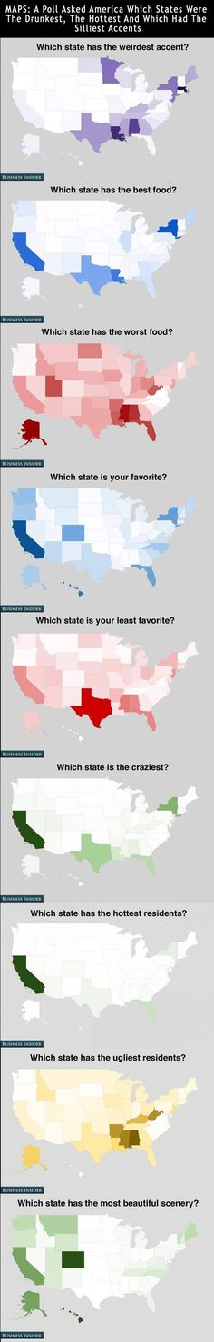 22 questions about how American's feel about the states. (more on website) Yeah California! Represent!!!