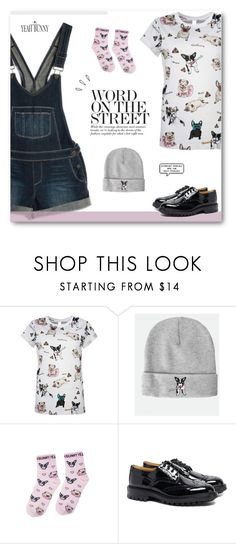 """Fun Frenchie ✩ Read Description ✩"" by paradiselemonade ❤ liked on Polyvore featuring Paige Denim, Tricker's, Yeah Bunny, Old Navy, tumblr and YeahBunny"