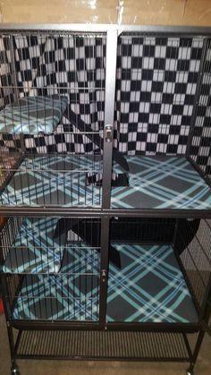 Équipé de PREVUE 485 Fiesty furet Cage Liners par TheComfyFerret