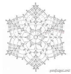 Снежинки крючком схемы