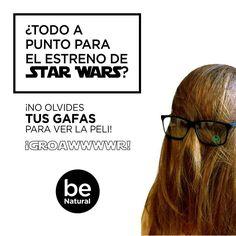 Natuaral Optics de #yecla Nos unimos a la locura por el estreno mundial de lo nuevo de la saga#StarWars. ¡Acuérdate de llevar tus gafas para no perderte ni un detalle de la peli!  #Chewacca #StarWarsElDespertarDeLaFuerza
