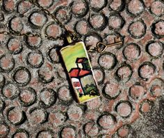 A Little Bit of Italy Ceramic Tile Necklace by bonnieline on Etsy