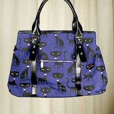 Folter Clothing Cats Meow Canvas Handbag