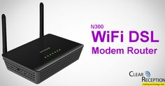 WiFi DSL Modem Router  Your Modem. Your WiFi. Your Shelf Space.  Why use two devices when one will do? The built-in DSL modem replaces the one from your service provider and frees up shelf space. Secure WiFi lets you share the Internet with all your computers and mobile devices for faster downloads, music and video streaming, and online gaming all at the same time. clear reception genie makes setup and control easy.