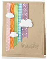 Blue Skies Card by @Melyssa Connolly - supplies and instructions included
