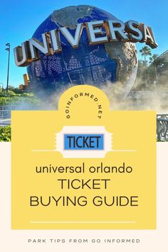 Get the perfect park tickets with these tips from Go Informed. Find out what you need to know about Universal Orlando's ticket options, pricing, and when & how to purchase. Universal Orlando vacation tips. Universal Studios Florida, Universal Orlando, Orlando Theme Parks, Orlando Vacation, Disney World Tips And Tricks, Best Vacations, Travel Essentials, Ticket, Islands