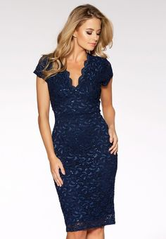 15a361029d Buy Quiz Lace Sequin Cap Sleeve Midi Dress from the Next UK online shop