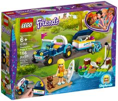 Enjoy a day of activity with LEGO Friends 41364 Stephanie's Buggy & Trailer. Buggy, Star Destroyer, Jouer Au Tennis, Lego Friends Sets, Shop Lego, Lego Girls, Toy R, Paddleboarding, Lego Duplo