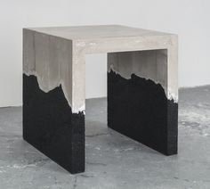 AMMA Studio - D-1 Table, 2014 Black sand, hand-dyed cement