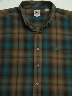 799ecd098 MEN s CINCH Long-Sleeve Button Front Plaid Western Shirt Men s Size  XL   fashion  clothing  shoes  accessories  mensclothing  othermensclothing (ebay  link)