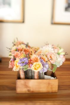 elegant real weddings lavender peach wedding colors bridesmaids bouquets
