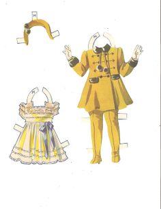 Dionne Quintuplets Paper Dolls (23 of 26): Marie, #3488 Merrill 1940 | Miss Missy Paper Dolls