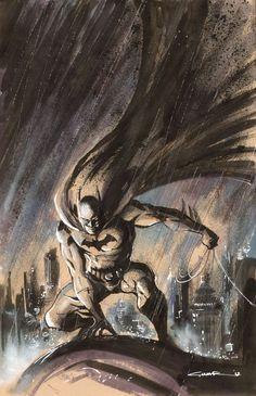I drew too many Batman in these days. This one is a gift for my good friend, Ivan Freitas DaCosta cheers Batman Nightwing, Batgirl, Catwoman, Comic Book Artists, Comic Books Art, Comic Art, Batman Y Robin, I Am Batman, Gotham Batman