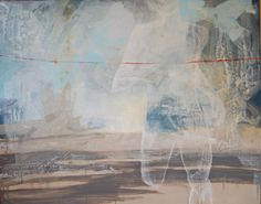 Cathrine Boman - Løperen, Acryl på lerret, 150 x 120 cm