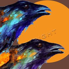 ravens and the moon by Dean Crouser