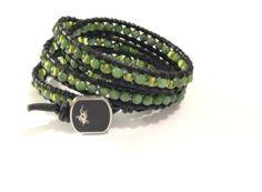 """Armband  """"Chan Luu"""" Stil  Gold Sand Stone von Tessie's  Schmuck & Deko auf DaWanda.com"""