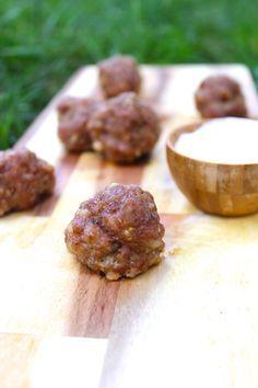 Maple Pecan Sausage Balls - easy to make, dairy-free, grain-free, gluten-free, paleo, YUM!