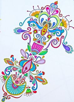 Rainbow Doodle by Angel Van Dam, Angel Creative from New Zeeland