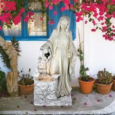 Search Results - Design Toscano Garden Sculpture, Lion Sculpture, Catholic Gifts, Blessed Virgin Mary, Faux Stone, Mother Mary, Fountain, Healing, Lourdes France